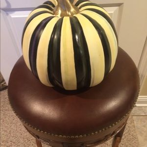 MacKenzie-Childs courtly stripe medium pumpkin